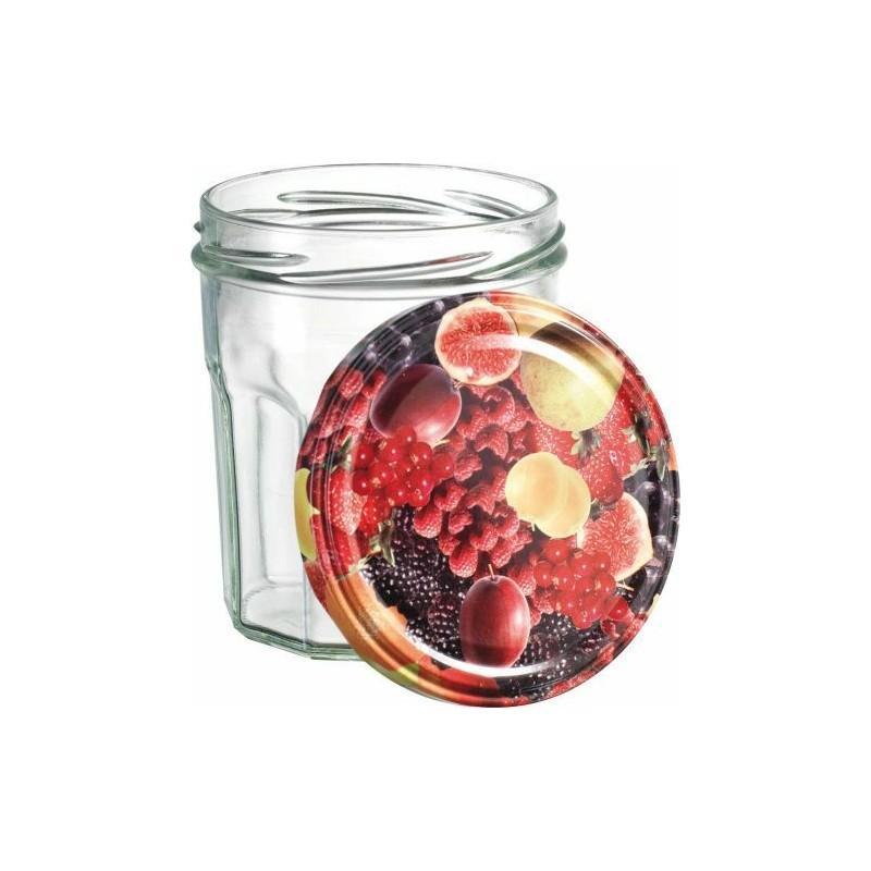 pot confiture avec couvercle fruit 32 4cl 6 toc. Black Bedroom Furniture Sets. Home Design Ideas