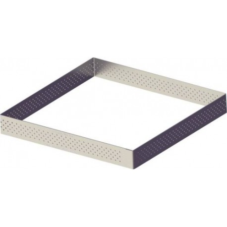 CERCLE CARRE PERFORE INOX 20 X 20 X 2CM