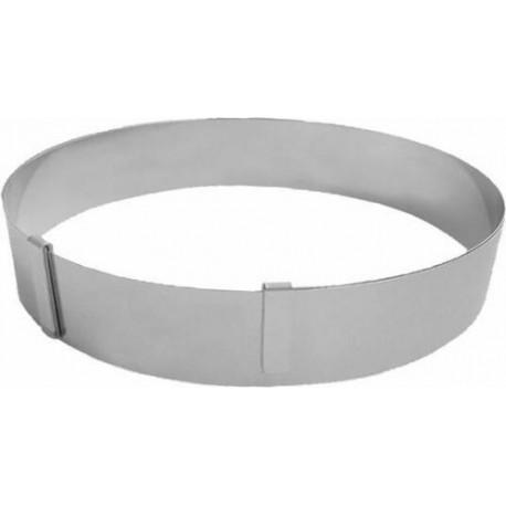 Cercle à pâtisserie extensible, 18 à 36 cm