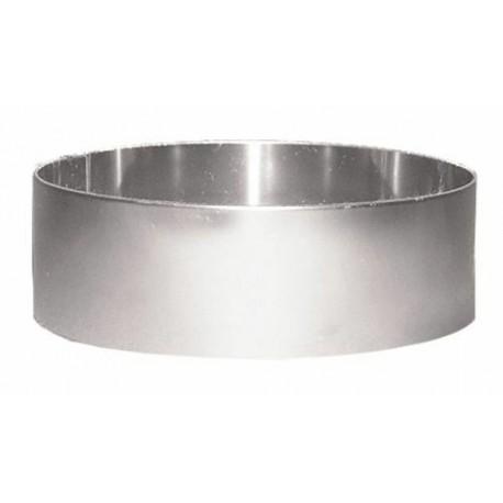 Cercle vacherin inox ø 18x6cm