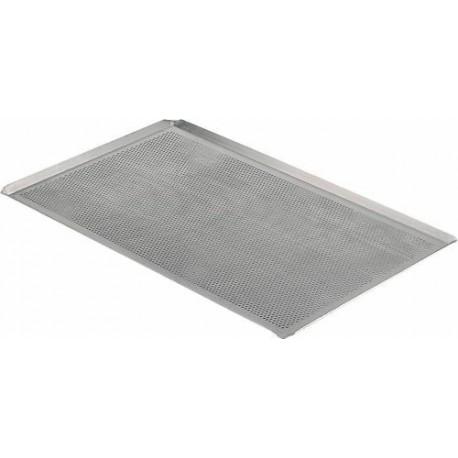 Plaque perforée à bords pincés, 40x30cm