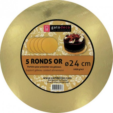 Rond or 24cm /5