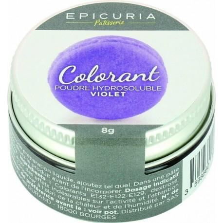 Colorant poudre hydrosoluble violet Epicuria 8g