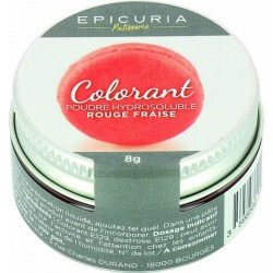 Colorant poudre hydrosoluble rouge Epicuria 8g