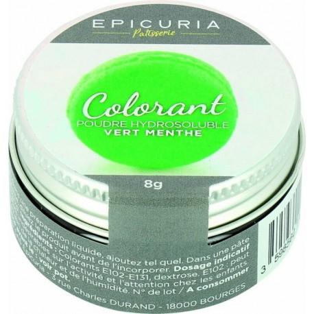 Colorant poudre hydrosoluble vert menthe Epicuria 8g