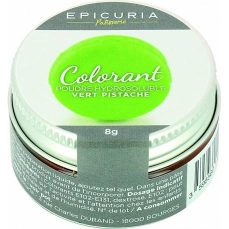 Colorant poudre hydrosoluble vert pistache Epicuria 8g