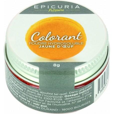 Colorant poudre hydrosoluble jaune d'oeuf Epicuria 8g