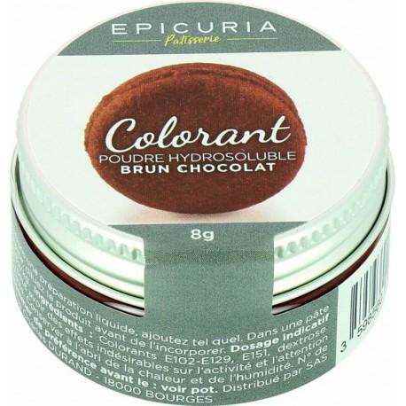 Colorant poudre hydrosoluble brun chocolat Epicuria 8g