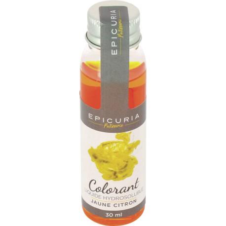 Colorant liquide hydrosoluble jaune citron Epicuria