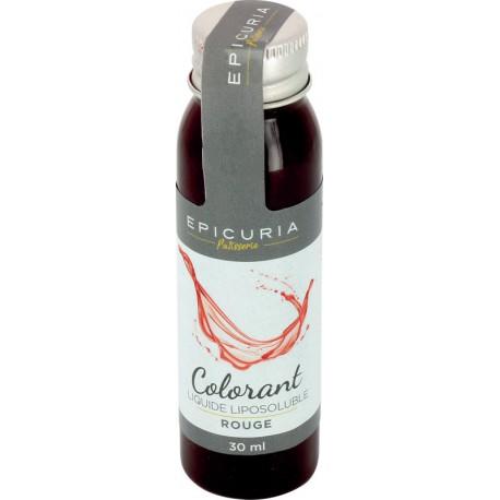 Colorant liquide liposoluble naturel rouge epicuria 30 ml