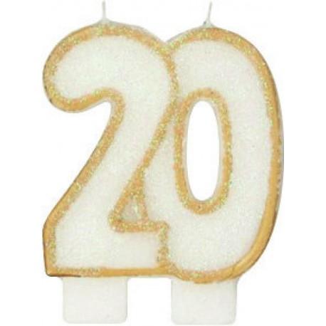 BOUGIE ANNIVERSAIRE 20 ANS