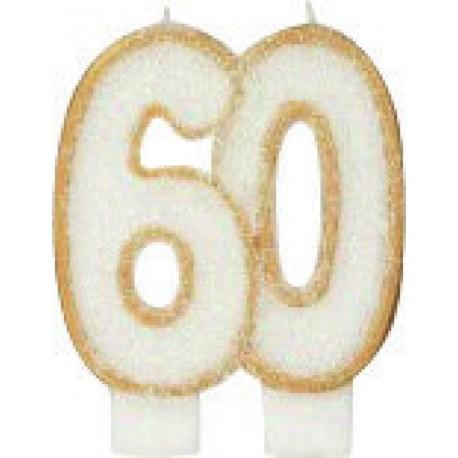 BOUGIE ANNIVERSAIRE 60 ANS
