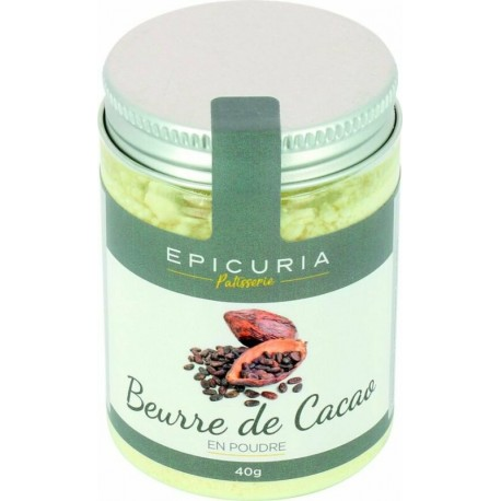 Beurre de cacao poudre Epicuria 40g