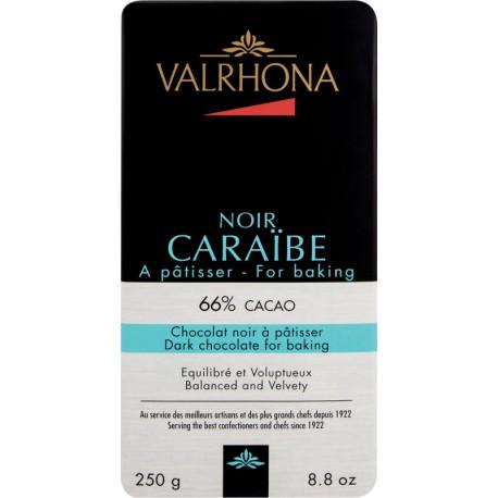TABLETTE CHOCOLAT NOIR CARAIBE 66% 250G