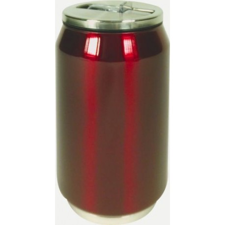 CANETTE ISOTHERME INOX ROUGE BRILLANT 28CL