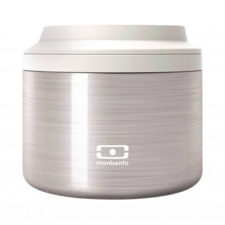BOITE REPAS ISOTHERME RONDE SILVER
