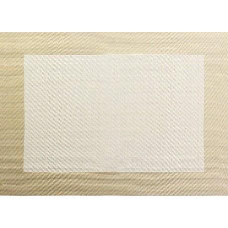 SET DE TABLE PVC BORD BLANC CASSE 46X33CM