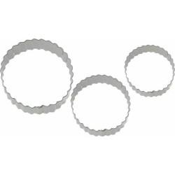 EMPORTE PIECE INOX ROND CANNELE /3