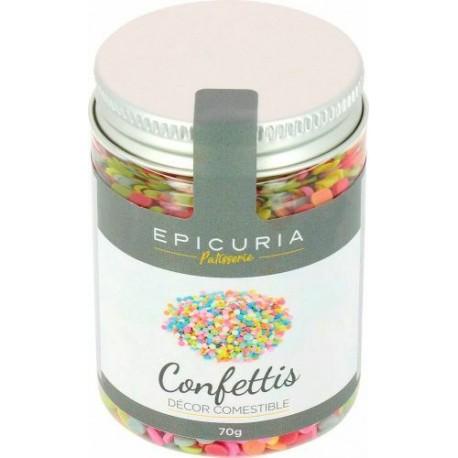 Confettis de sucre multicolores Epicuria (70g)