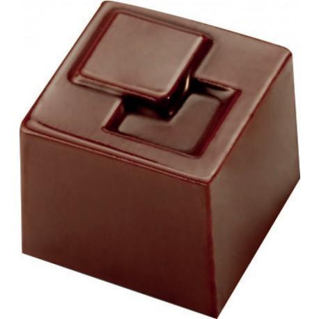 PLAQUE POUR 21 CUBES CHOCOLAT MAKROLON 27,5X13,5 CM