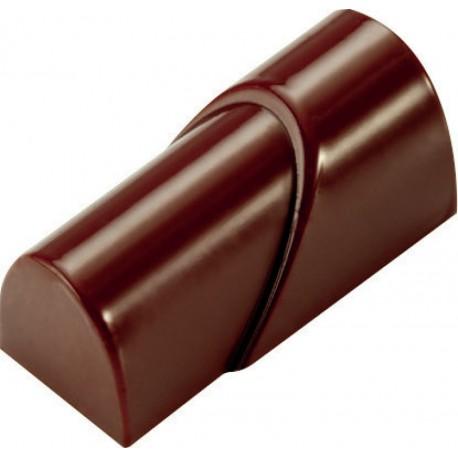 PLAQUE POUR 21 TUBES CHOCOLAT MAKROLON 27,X13,5 CM