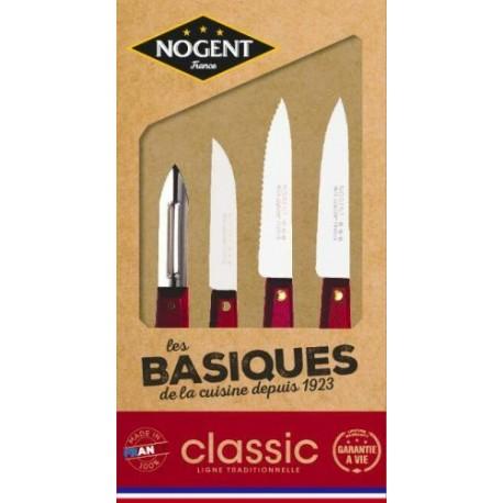 Couteaux Les basiques classic merisier /4