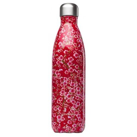 BOUTEILLE ISOTHERME FLEURS ROUGE 75CL