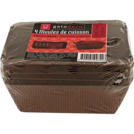 MOULE A CAKE PAPIER 10X7CM /4