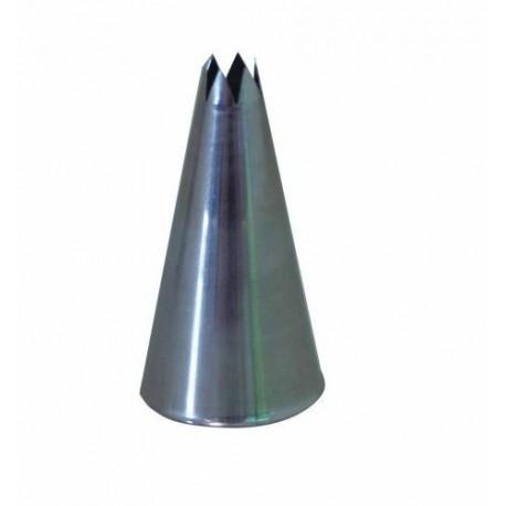 DOUILLE CANNELEE C6 6 DENTS INOX