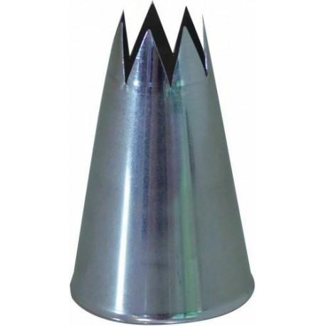 DOUILLE CANNELEE F8 8 DENTS INOX
