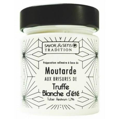 MOUTARDE AUX BRISURES DE TRUFFE BLANCHE TUBER AESTIVUM