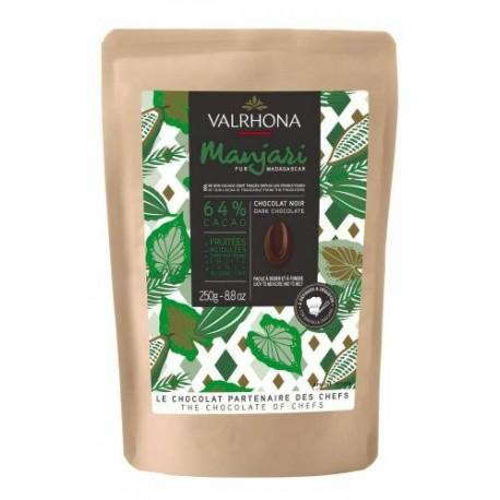 Fèves chocolat noir manjari 64% 250g