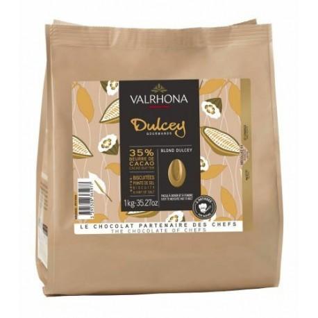 Fèves chocolat blond dulcey 35% 1kg
