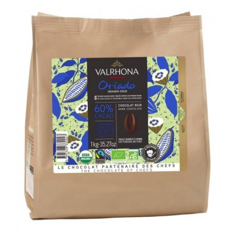 Fèves chocolat noir oriado bio 60% 1kg