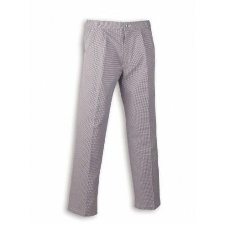 Pantalon polycoton pied de poule T.38