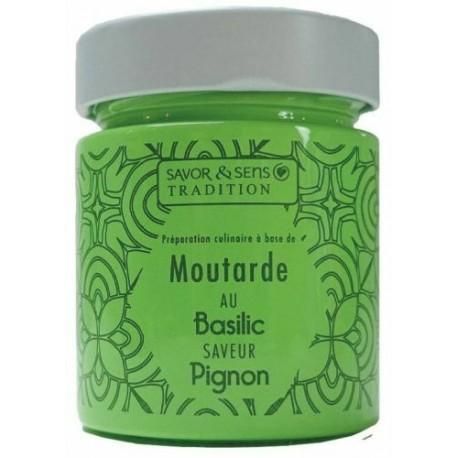 Moutarde saveur basilic et pignon / 130g