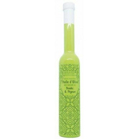 Huile d'olive saveur basilic pignon