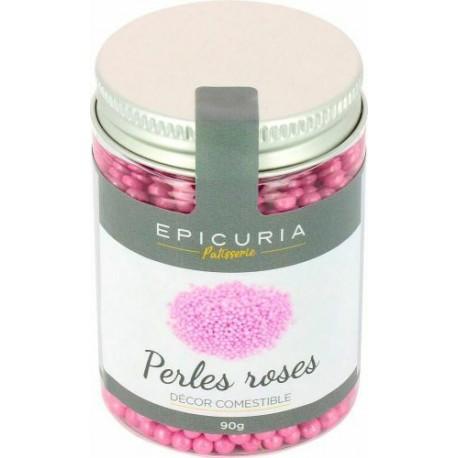 Perles nacrées sucre rose Epicuria 90g